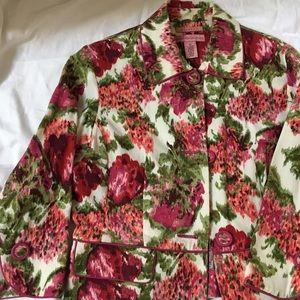 Bandolino Size 10 floral blazer/jacket